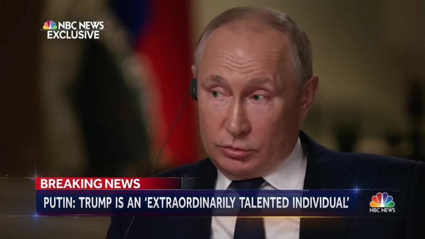 Prezydent Rosji Władimir Putin udzielił wywiadu dla NBC