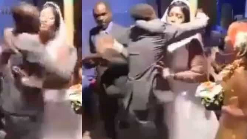Angry groom beats best man, drags him out of wedding venue for hugging bride too affectionately (video)