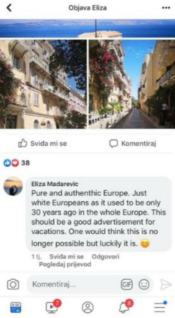 Elizabeta Mađarević  na Fejsbuku