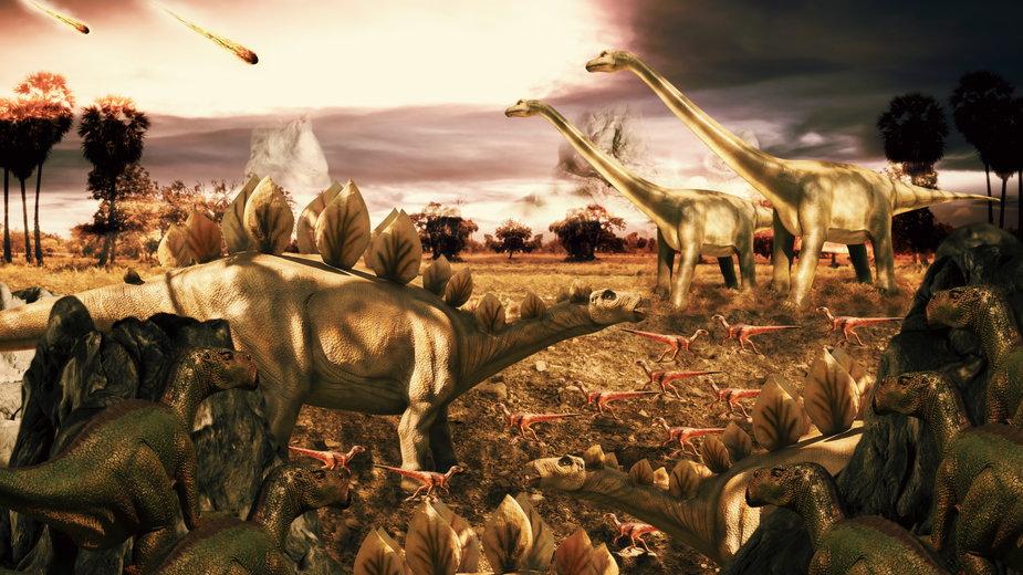 Według teorii naukowców przyczyną zagłady dinozaurów było uderzenie planetoidy