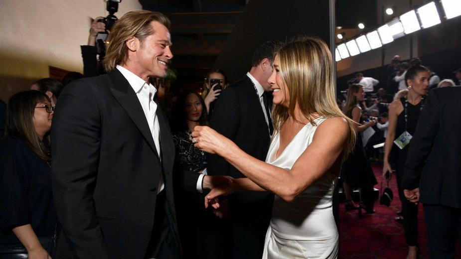 Brad Pitt i Jennifer Aniston podczas gali Nagród Gildii Aktorów Ekranowych,  styczeń 2019 r.