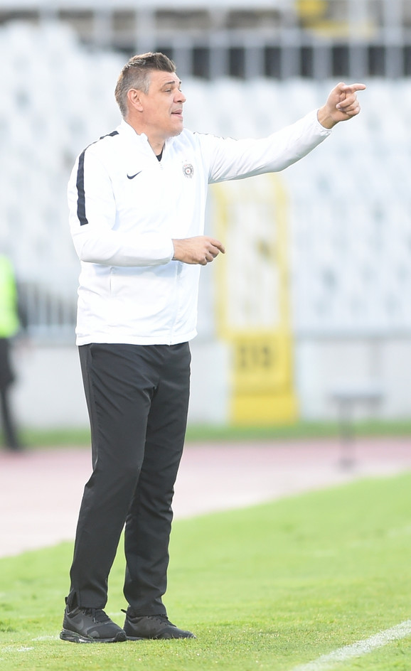 Trener Partizana Savo Milošević