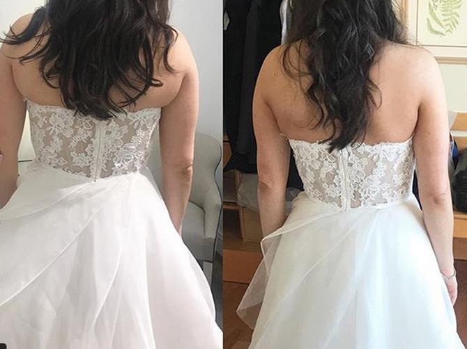 Probala sam venčanicu i shvatila da mi se SALO PRELIVA iz nje: Samo 2 nedelje kasnije, stoji mi ovako, a tajna je NIKAD JEDNOSTAVNIJA