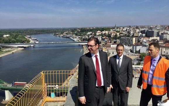 Aleksandar Vučić, Nebojša Stefanović i Siniša Mali