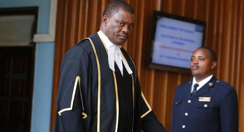 Speaker of the National Assembly Justin Muturi