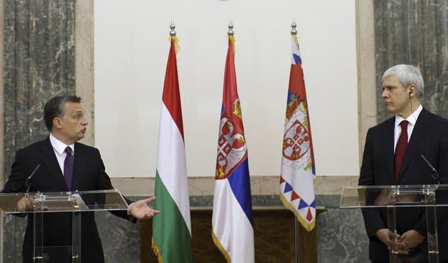 Mađarski premijer Viktor Orban i srpski predsednik Boris Tadić