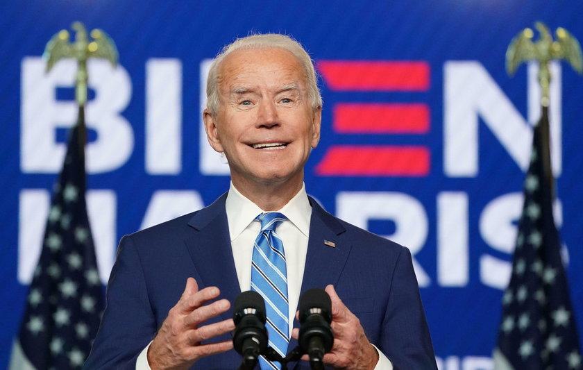 Democratic U.S. presidential nominee Biden speaks about 2020 the presidential election in Wilmington