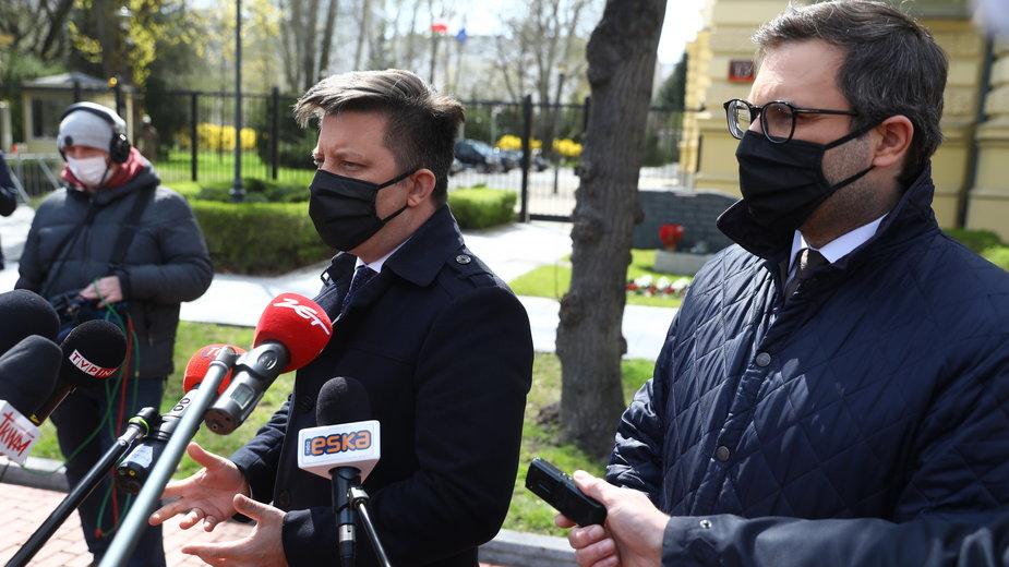 Michał Dworczyk i Michał Kuczmierowski