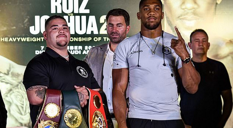 Anthony Joshua and Andy Ruiz Jnr meet in Saudi Arabia ahead of their Dec. 7 rematch