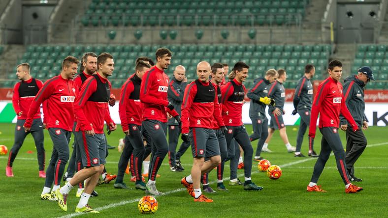Trening piłkarskiej reprezentacji Polski we Wrocławiu