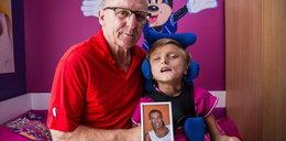 Jego żona zmarła na raka. Sam wychowuje 13-letnią córkę. Nikola nie widzi i nie mówi