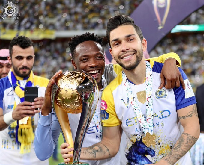Ahmed Musa wins Saudi Super Cup with Al Nassr (Twitter/Al Nassr)