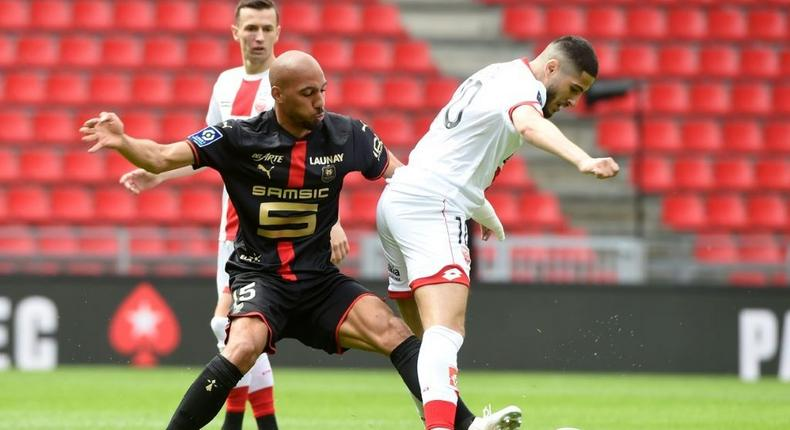 Steven Nzonzi (L) most recently played on loan for Rennes before his move to Qatar Creator: JEAN-FRANCOIS MONIER