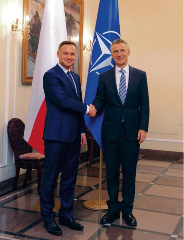 Prezydent Duda i Jens Stoltenberg, sekretarz generalny NATO