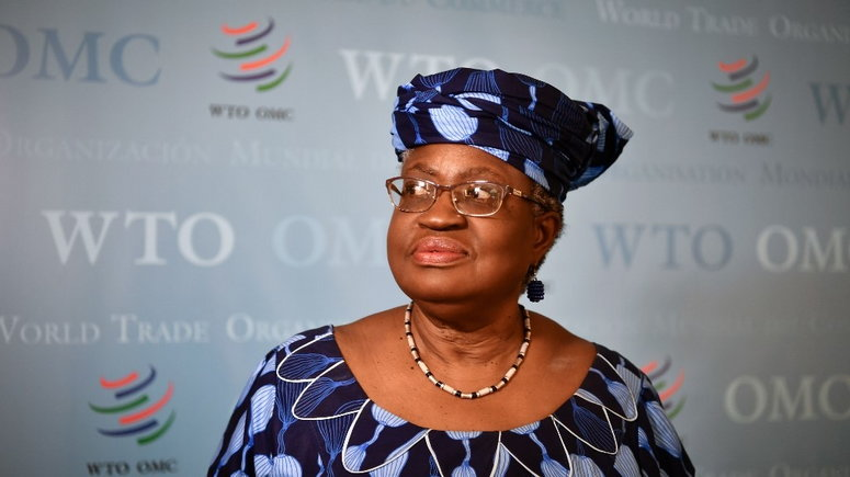 Dr Ngozi Okonjo-Iweala is the first woman and first African to lead the World Trade Organization (WTO) [Fabrice Coffrini/AFP/Getty Images]