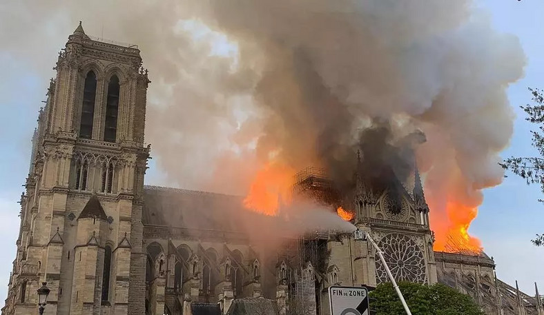 The Notre Dame Cathedral went up in flames on Monday