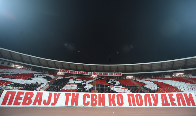Koreografija sa meča FK Crvena zvezda - Slovan Liberec