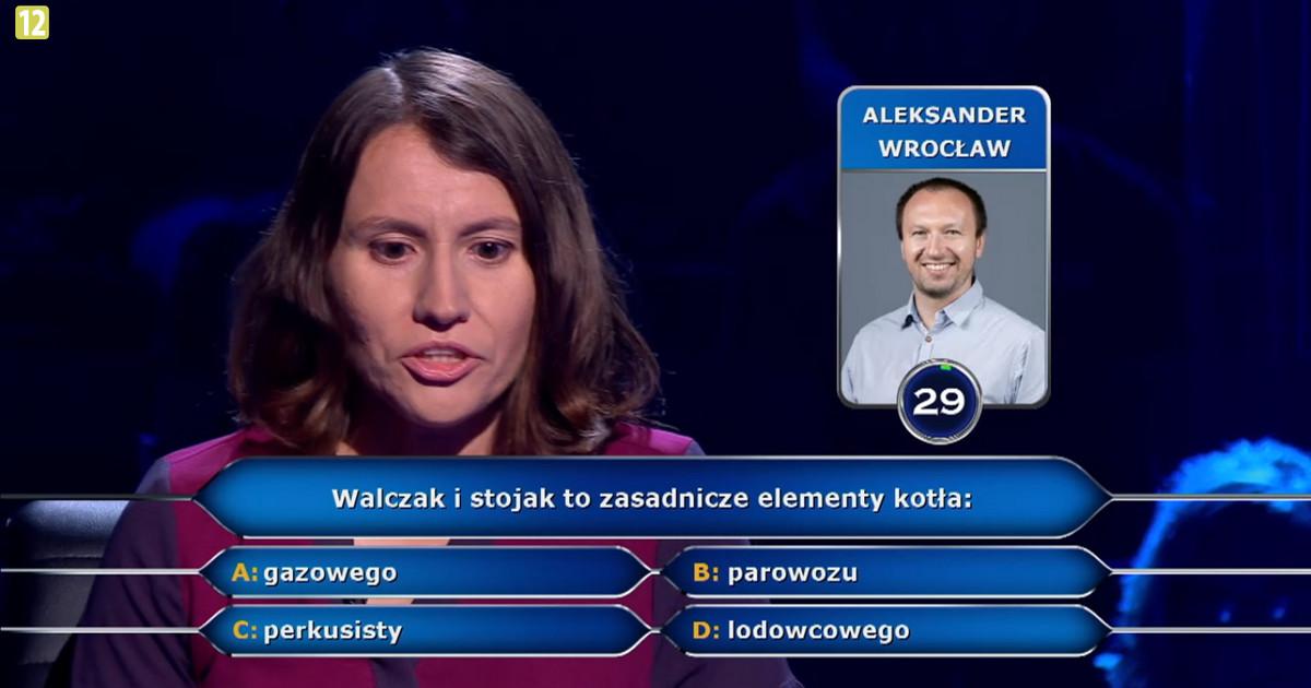 """""""Milionerzy"""" prawniczka z Warszawy odpadła na pytaniu o walczak i stojak!"""