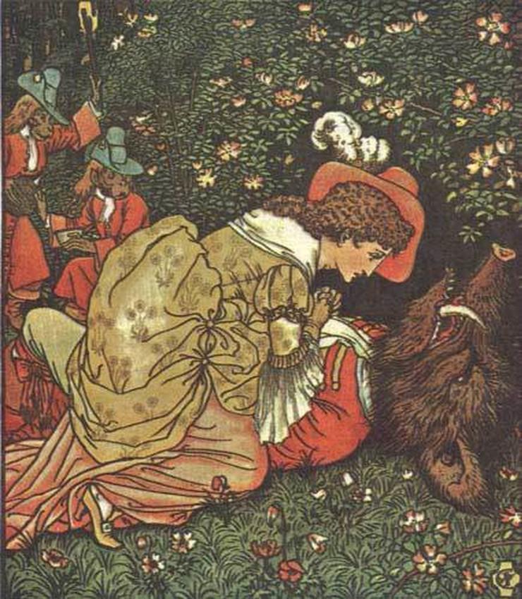 lepotica i zver wiki ilustracija volter krejn 1874
