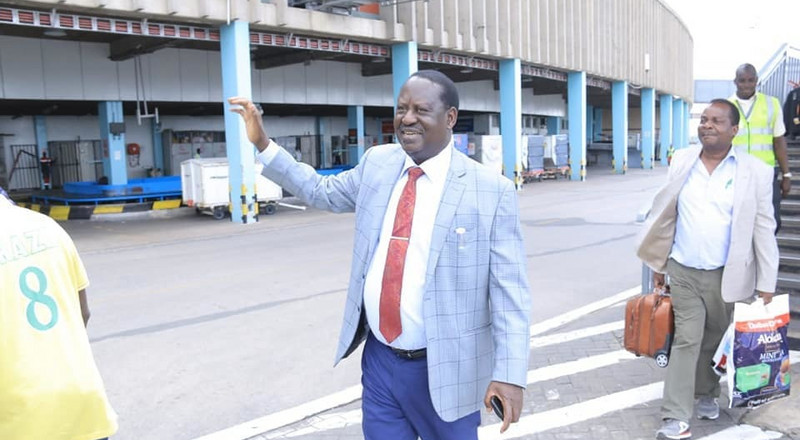 Raila leaves the country for 2-Day visit to DRC
