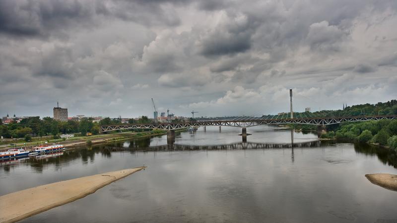 Warszawa, Wisła i Most Świętokrzyski