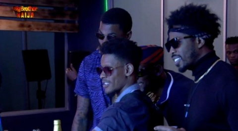 Ike, Mike and Elozonam made the highlights for the 12th Saturday Night Party [Twitter/BBNaija]