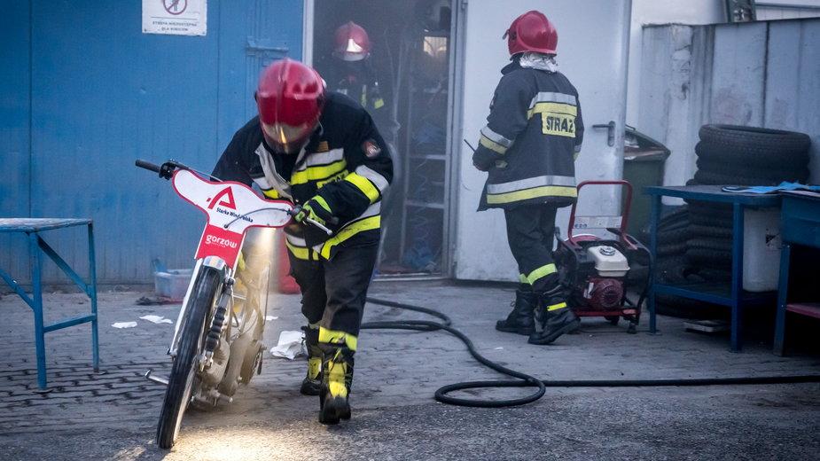Pożar rozdzielni elektrycznej w Gorzowie