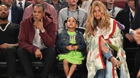 Beyonce z rodziną na Meczu Gwiazd NBA