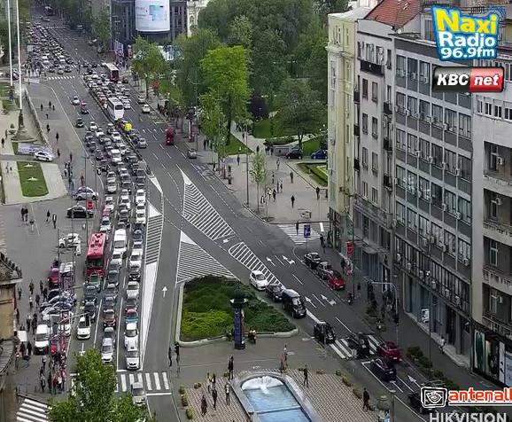 Gužve na Trgu Nikole Pašića