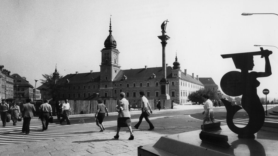 Warszawa, 1978 r. Plac Zamkowy