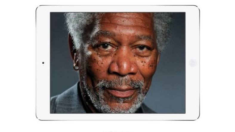 Morgan Freeman na iPadzie