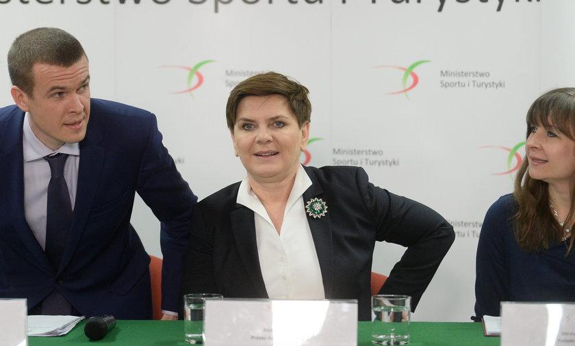 Dorota Dulińska w premier Szydło i Witoldem Bańką