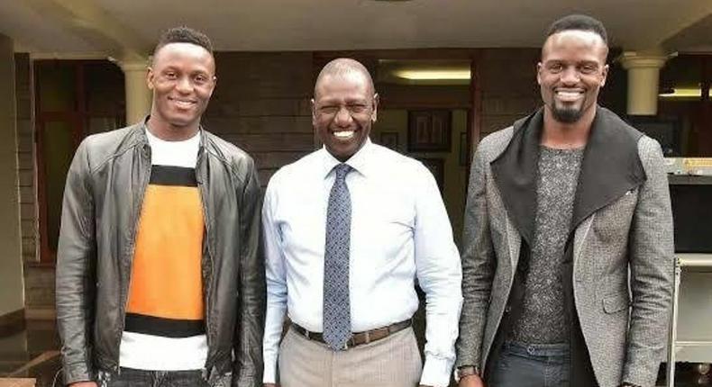 DP William Ruto with football stars MacDonald Mariga and Victor Wanyama