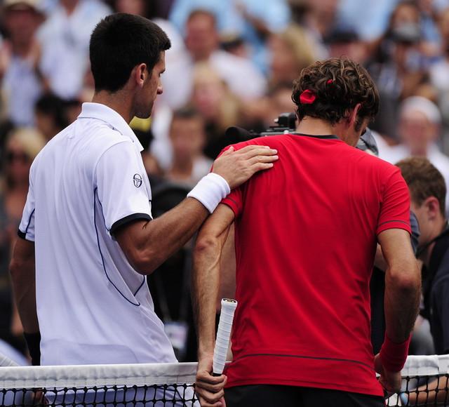 Đoković i Federer na US openu 2011.