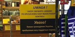 Szokujący napis w polskim sklepie. Klienci oburzeni