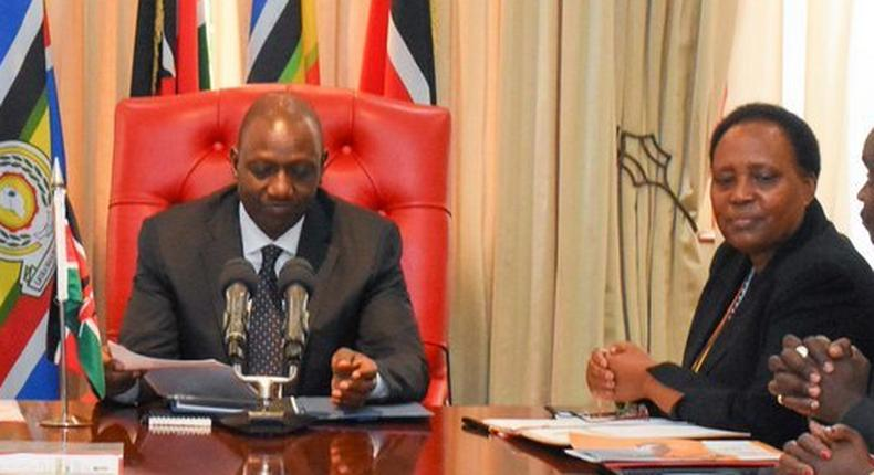 DP William Ruto meets with Hellen Nkaissery at his Karen Office amid assassination talk