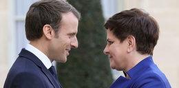 """Sukces Beaty Szydło we Francji? """"Macron się z tego wycofał"""""""