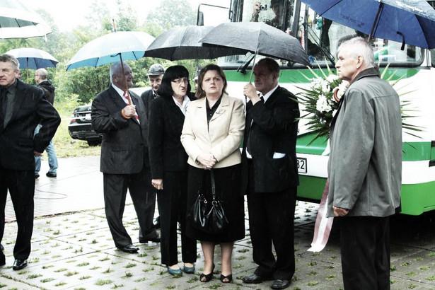 Renata Beger na pogrzebie Andrzeja Leppera. 2011 r.