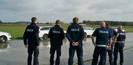 Policjanci na torze