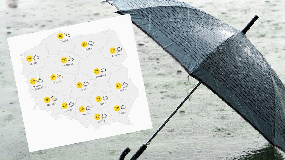 Pogoda w poniedziałek, 13 września 2021 r.