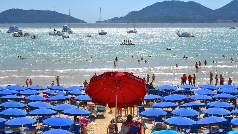 Plaża, Liguria