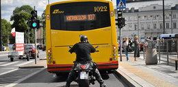 Motocykliści na buspasy