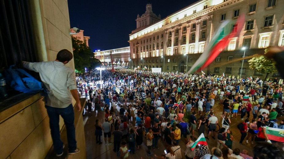 Protest przeciwko korupcji w Sofii