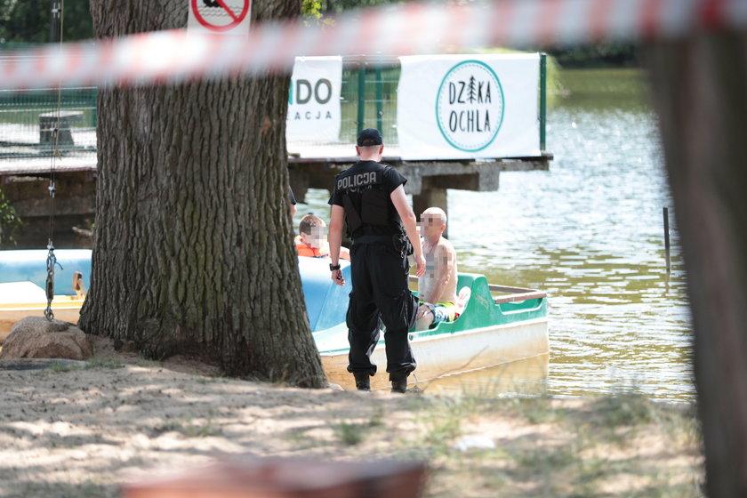 Makabra w Zielonej Górze. Pływali rowerkiem wodnym i znaleźli ciało