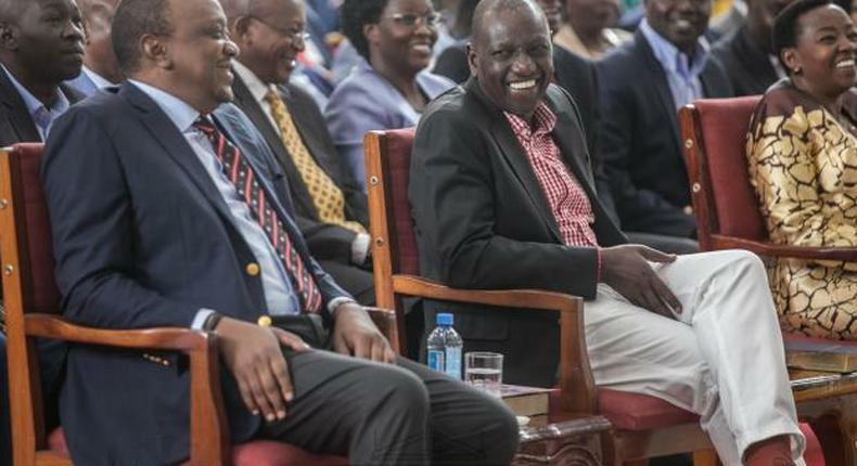 Uhuru, Ruto meet in public at Africa Inland Church (AIC) Milimani after tense BBI meetings, rekindling memories of bromance