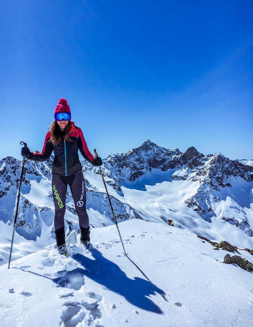 Narciarską i górską pasją zaraził ją tata, który też uprawiał ten sport.