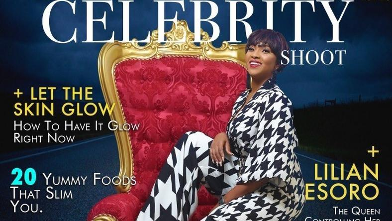 Lilian Esoro covers The Celebrity Shoot Magazine