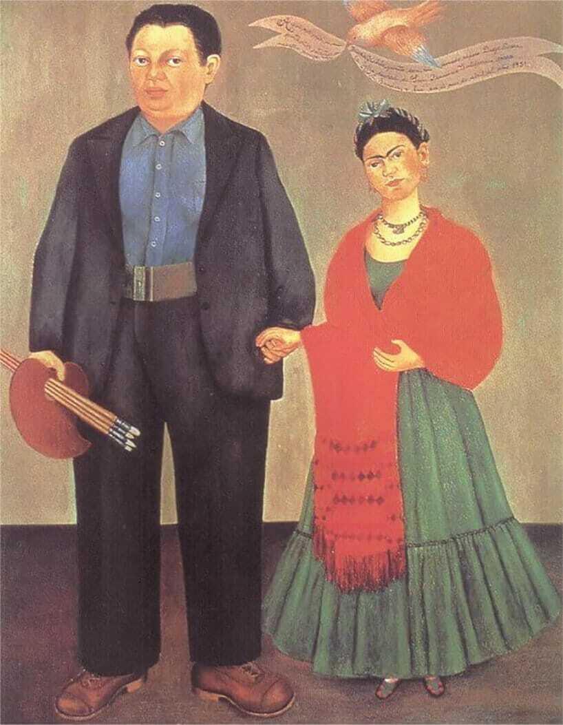 """Diego był częstym obiektem obrazów Fridy. Tu dzieło pt. """"Frida i Diego Riviera"""""""