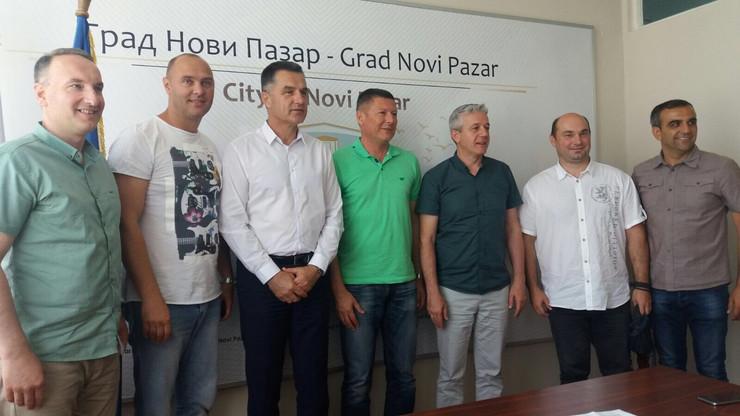 Detalj sa konferencije za štampu u Novom Pazaru