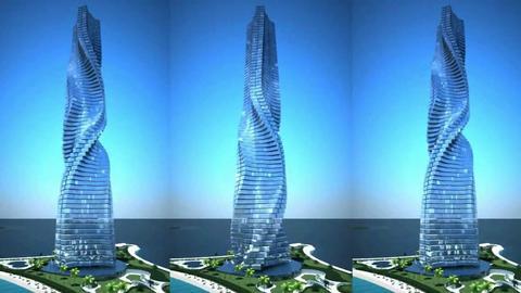 Każde z pięter 420-metrowego wieżowca może obracać się we własnym tempie